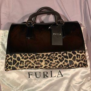 Furla leopard candy bag. NWT.